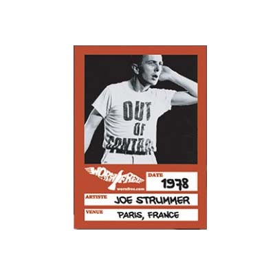 New In / WORN FREE Joe Strummer - Out of Control T-Shirt-18777