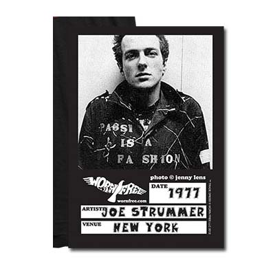 New In / WORN FREE Joe Strummer - Passion is a Fashion T-Shirt-18767